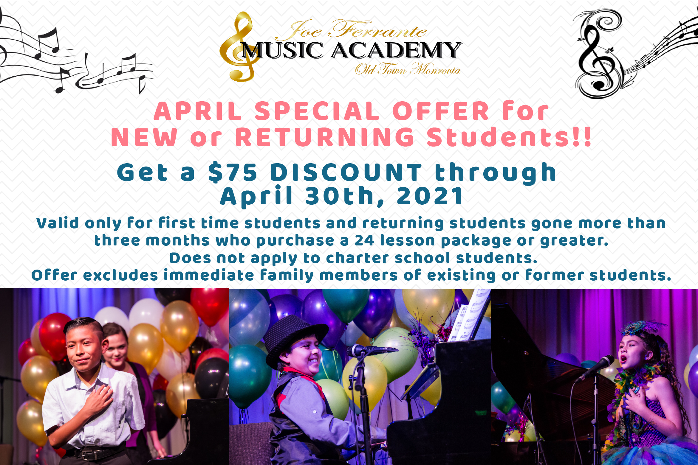 Joe Ferrante Music Academy Coupon